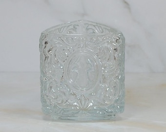 Vintage Glass Triangle Vase by AVON, 1980's
