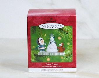 Hallmark Keepsake Frosty Friends Ornament #22 in Series 2001 Handcrafted Ornament