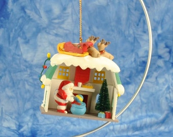 Vintage Keepsake Ornament, Up On the Roof, Santa's Best Christmas Collectible Ornament, 1990's, Santa Claus, Christmas Decoration