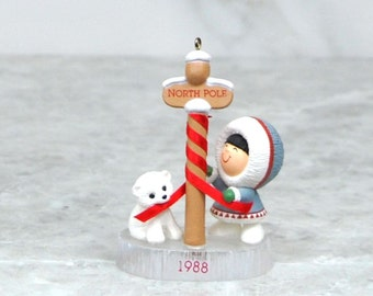 Vintage Hallmark Frosty Friends Keepsake Ornament, Collectible, 1993, Number 9, North Pole, Christmas, Hallmark Ornament, Series Ornament