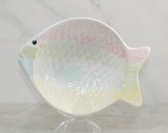 Vintage Ceramic Fish Bowl By Knobler Japan, 1980's