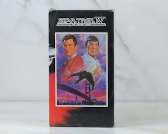 Vintage Star Trek The Voyage Home, VHS Tape, 1986, Paramount Pictures, William Shatner, Captain Kir, Leonard Nimoy, Spock, San Fransicso