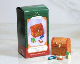Vintage Ornament, Hallmark Santa's Toy Box, 2001, Set Of 4 Ornaments