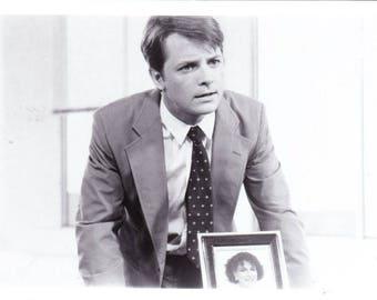 Vintage Photograph The Secret of My Success, 8x10, Black and White, Promotional, Photo, 1987, Michael J. Fox Not Autographed, Helen Slater