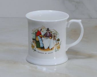 Vintage English Cup, Souvenir of Wales,  Reflections for David Morgan, Made in England,