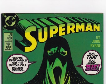 Vintage Comic Book, Superman, Number 22, October 1988, DC Comics