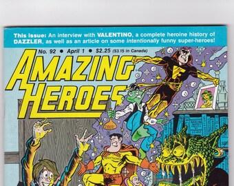 Amazing Heroes Comic Book Number 92 April 1986, Andromeda Comics
