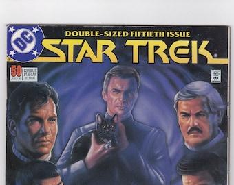 Vintage Star Trek Comic Book, Star Trek Original Series, Number 50, July 1993, DC Comics