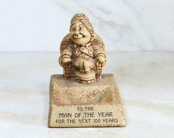 "Vintage Paula Sillisculpt 1972 AW-40, ""To The Man Of The Year For The Next 100 Years"""