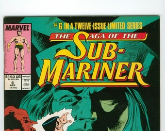 Vintage Saga of the Sub-Mariner Comic, Volume 1 Number 6, 1989, Marvel Comics, Subby, Bill, Personal View, Bill Everett, Namor, Torch