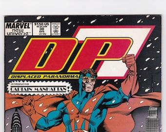 Vintage Comic Book DP7 Number 30 April 1986 Marvel New Universe, Fantasy, Adventure, Displaced Paranormals, Super Heroes, Villains, Pitbull