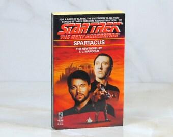 Vintage Star Trek Book, Spartacus, Paperback, 1992, The Next Generation, 276 Pages, T.L. Mancour, Race Of Slaves, Enterprise, Data, Riker
