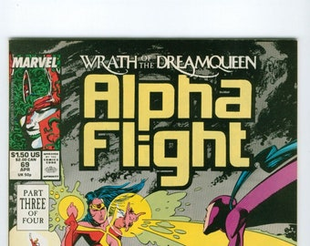 Vintage Comic Book, Alpha Flight, Number 69, April 1989, Marvel Comics
