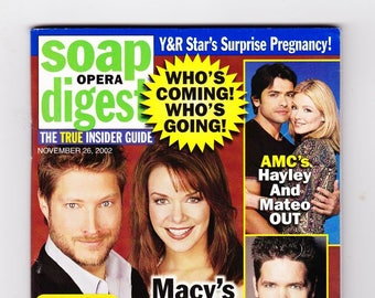 Soap Opera Digest Magazine November 26 2002, with Young and the Restless, Bold and the Beautiful, All My Children, GH