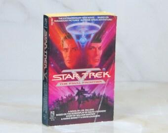 Vintage Star Trek Book, Star Trek V, The Final Frontier, Paperback, 1989, Original Series, 311 Pages, Novell, J.M. Dillard, Paramount