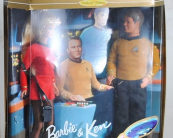 Vintage Star Trek Barbie and Ken 1996 Mattel Star Trek 30th Anniversary Giftset 15006, Collector's Edition