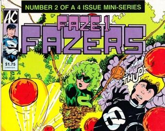 Faze 1 Fazers 2 Comic Book, 1985 AC Comics
