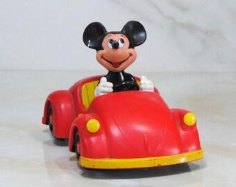 Vintage Mickey Mouse Radio Car, Disney, Concept 2000, Disney Productions, Collectible, 1970, Walt Disney, Mickey Driving Car, Music Radio