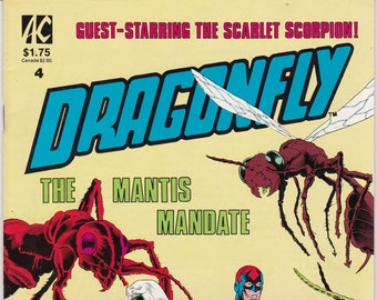 Vintage Comic Book, Dragonfly, Number 4, 1986, Americomics Comics