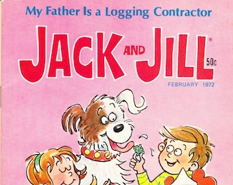 Vintage Comic Book, Jack And Jill, Number 1, February 1972, Holiday Publishing