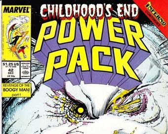 Childhood's End Power Pack Comic Book Number 42 December 1988, Marvel Comics