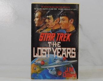 Vintage Paperback Book The Lost Years Star Trek The Original Series, 1989, Pocket Books, JM Dillard, Enterprise, Captain Kirk, Mr Spock