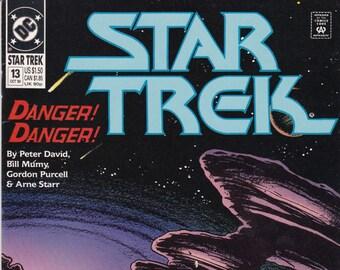 Vintage Star Trek Comic Book, Star Trek Original Series, Number 13, October 1990, DC Comics