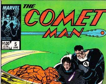 Vintage Comic Book, The Comet Man, Number 5, June 1987, Marvel Comics