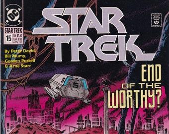 Vintage Star Trek Comic Book, Star Trek Original Series, Number 15, January 1991, DC Comics
