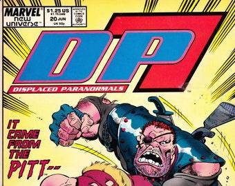 DP7 Comic Book Number 20 June 1988, Marvel Comics, DC Comics