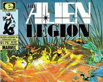 Vintage Comic Book, Alien Legion, Number 18, February 1987, Epic Comics