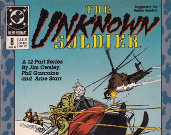 Vintage Comic Book, The Unknown Soldier, Number 8, August 1989, DC Comics