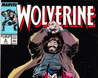 Wolverine 6 Comic Book, 1989 Marvel Comics