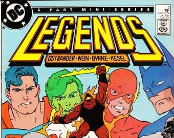 Vintage Comic Book, Legends, Number 3, January 1987, DC Comics