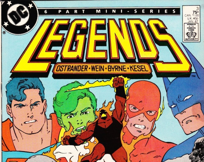 Vintage Comic Book Legends Number 3 January 1987 DC Comics, Darkseid, Operation Humiliation, The Suicide Squad, Brimstone, Apokolips