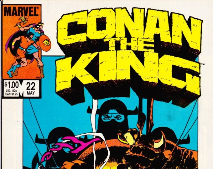 Vintage Comic Book Conan The King Number 22 May 1984 Marvel Comics, The Black Dragons, Fighting Force,  Hyborean Age, Black Sphinx