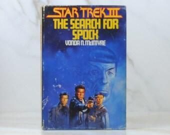 Vintage Star Trek III The Search For Spock 1984 Hardback Book, Mr Spock, Death, Genesis Device, Federation, Original Series, Genesis