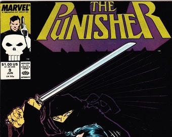 Vintage Comic Book The Punisher Volume 2 Number 9 May 1988, Marvel Comics