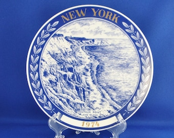 Vintage New York Limited Edition Collectible Plate Montauk Point Long Island 1974 Chateau by Kesa