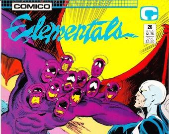 Vintage Comic Book, Elementals, 1st Series, Number 26, June 1988, Comico Comics