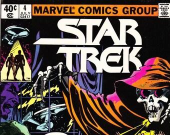 Vintage Star Trek Comic Book, Star Trek The Original Series, Number 4, July 1980, Marvel