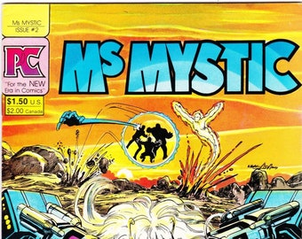 Vintage Comic Book, Ms Mystic, Number 2, February 1984, Pacific Comics