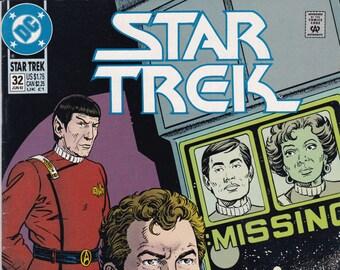 Vintage Star Trek Comic Book, Star Trek Original Series, Number 32, June 1992, DC Comics