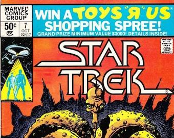 Vintage Star Trek Comic Book, Star Trek The Original Series, Number 7, October 1980, Marvel