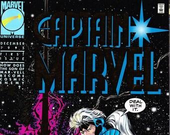 Vintage Comic Book Captain Marvel Volume 1 Number 1 December 1995, Marvel Comics