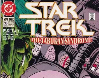 Vintage Star Trek Comic Book, Star Trek Original Series, Number 36, September 1992, DC Comics