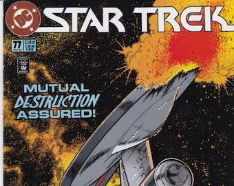 Vintage Star Trek Comic Book, Star Trek Original Series, Number 77, November 1995, DC Comics