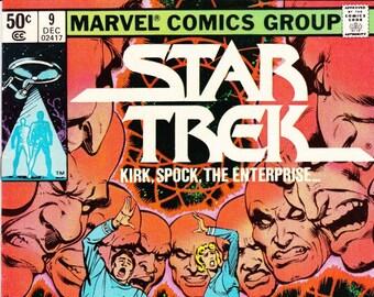 Vintage Star Trek Comic Book, Star Trek The Original Series, Number 9, December 1980, Marvel