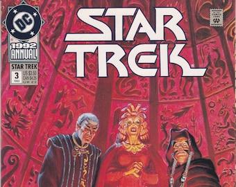 Vintage Star Trek Comic Book, Star Trek Original Series, Annual 3, 1992, DC Comics
