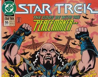 Vintage Star Trek Comic Book, Star Trek Original Series, Number 55, December 1993, DC Comics